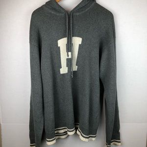 Tommy Vintage Gray pullover hoodie XL 100% cotton